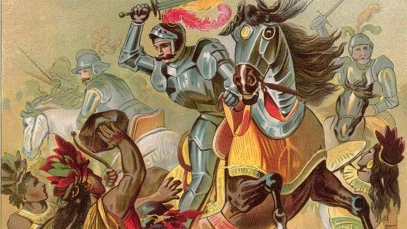 Ернан Кортес унищожава Ацтеките